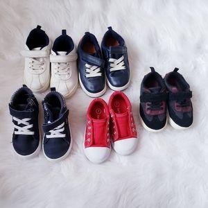 Toddler boy 5 piece shoe lot